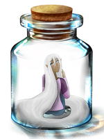 Maria In A bottle by moonlightartistry