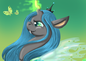chrysalis changling queen by twilightsilvermoon