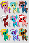 Adoptable Pony Palettes *5 left* by Laddy-Of-Winter