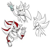 Sonic Sketches by winded-wolf