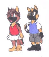Dora and Kurfust in 2008 colored by DingoPatagonico