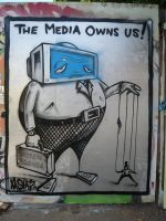 The Media Owns Us by CBrownDESIGNS