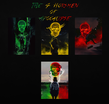 The 4 horseman of apocalypse by Sebiss