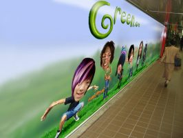 Outdoor Advertising Subway by Eyth