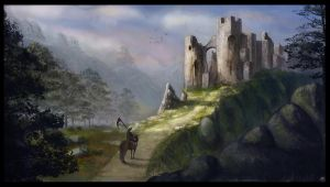 Castle ruins by LMorse