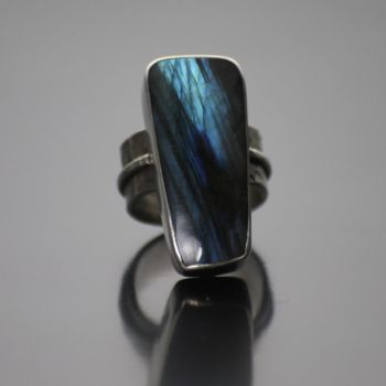 The Blue of Night, Labradorite Ring by kimistry3