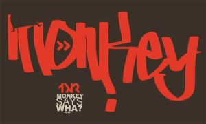 monkey says wha? graffiti tag by rodmen