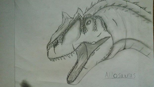 Allosaurus - Head by Fate-Darknu-Dragoon