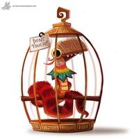 Daily Painting #863. Pet Quetzalcoatl by Cryptid-Creations