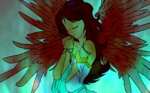 An Angel's Prayer -Colored- 2 by Mind-Like-A-Puzzle