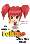 My name is Ichigo...Mew Mew Ichigo by Iloveyoukisshu
