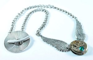Steampunk Perseids Necklace by Alvarelements