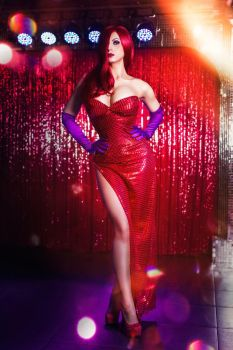 Jessica Rabbit Cosplay by elenasamko
