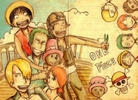 One piece XD by faQy