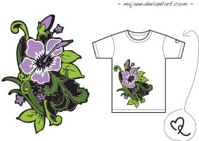 Hibiskus - T-Shirt Color by majann