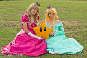 Princess Peach and Rosalina by angelspit666
