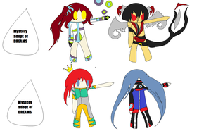 Adoptables because i was bored |D by Dyegth
