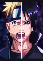 Victory For Me  Naruto And Sasuke by hazzardlook
