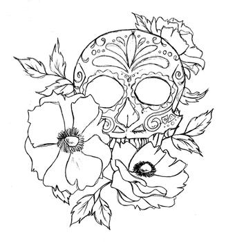 Sketchy Calavera Anemone by EternityEmporium