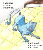 If You Give a Cat a Water Bed by Zephyr-Aryn
