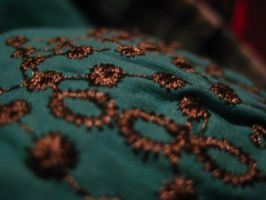 Embroidered Teal Blouse 2 by Roxyielle