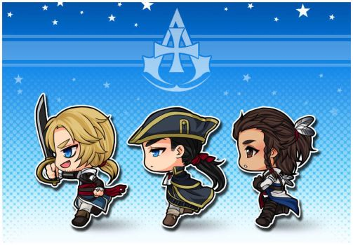 AC : The Kenways [ Chibi ver. ] by PrinceOfRedroses