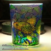 Gold fish -on glass 2 by Oksana007