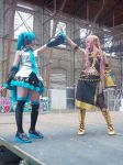 miku and luka cosplay by xsawdollx
