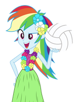 Hula Rainbow Dash by MoHawgo
