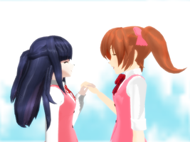 Misao and Aki~ [MMD] by iImagination