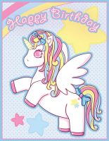 Unicorn Birthday Card by Fluffntuff