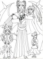 Lineart- Family by Paingiver