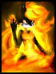 .:Girl On Fire:. by Libra-Dragoness