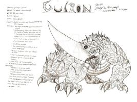 Guiron Sketch Study 2 by RenDragonClaw