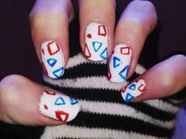 Togepi Nails by Chelseapoops