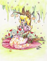 Peach of the mushrooms by Evanatt