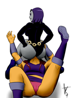 Raven sit on star face by the-killer-wc