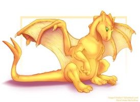Pern: Gold Hatchling Isorith by frisket17