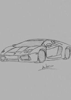 Lamborghini Sketch by Pixetomics