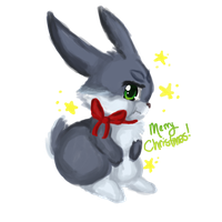 Christmas Bunnymund by Hibouette