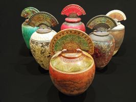 Urns by rhodespottery