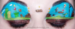 Super Mario Eyes by KatieAlves