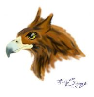 Gryphon head by CalleStar