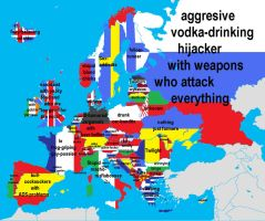 European map of insults by MumbleCat