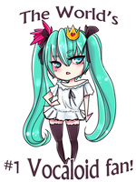 Hatsune Miku - #1 Vocaloid fan! by Cyarin