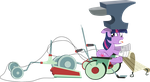 Twilight Sparkle - Beware of Falling Anvils by Firestorm-CAN