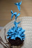 Blue butterflies by cridiana