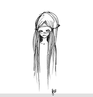 Another Masked Girl Sketch by beyourpet