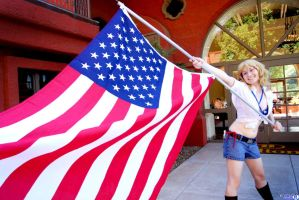 Hetalia - Waving the Flag of Freedom by SuperWeaselPrincess