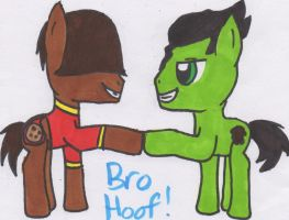 Chocolate Chip (OC) and Bolin Bro Hoof by Piplup88908